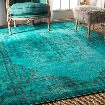 Parson Turquoise Area Rug Rug Size: Rectangle 82 x 911