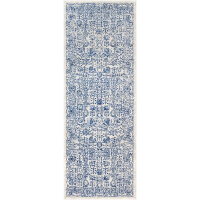 Hillsby H-Woven Blue Area Rug Rug Size: Runner 27 x 73