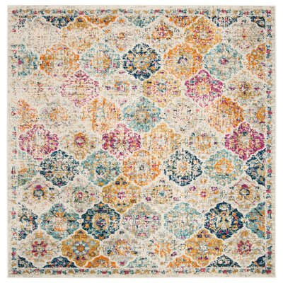 Grieve Cream Area Rug Rug Size: Square 5