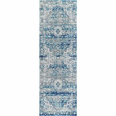 Christiane Vintage Blue Area Rug Rug Size: Runner 28 x 8
