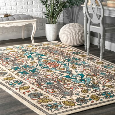 Collins Blue/Yellow Area Rug Rug Size: Rectangle 4 x 6