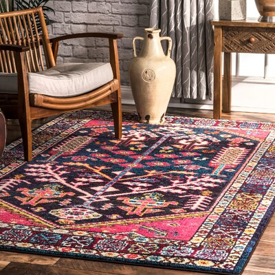 Destrie Pink/Blue Area Rug Rug Size: Rectangle 710 x 11