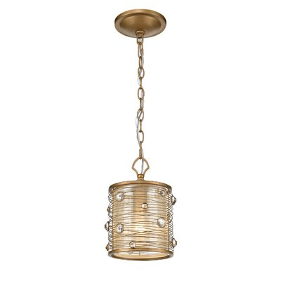 Hermione 1-Light Mini Pendant Finish: Peruvian Gold