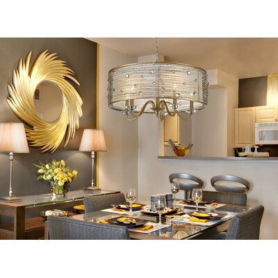 Hermione 5-Light Drum Chandelier Finish: Peruvian Gold