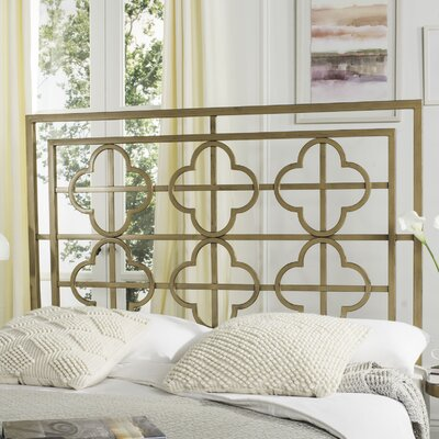 Hyde Open-Frame Headboard Size: Twin, Color: Antique Iron