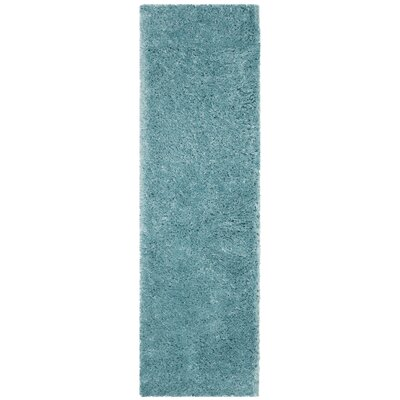 Hermina Light Turquoise Area Rug Rug Size: Runner 23 x 10