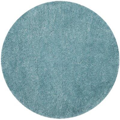 Hermina Light Turquoise Area Rug Rug Size: Round 67 x 67
