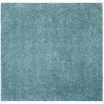 Hermina Light Turquoise Area Rug Rug Size: Square 67 x 67