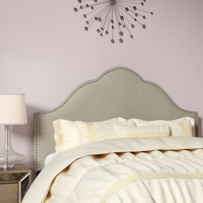 Haylee Arch Upholstered Panel Headboard Size: Queen