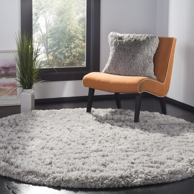 Hermina Silver Area Rug Rug Size: Round 67 x 67