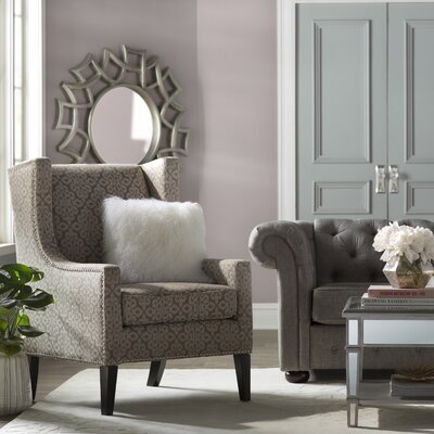 Agnes Wingback Chair Upholstery Pattern: Solid Color, Upholstery Color: Tan