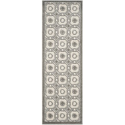 Maritza Ivory/Gray Indoor/Outdoor Wool Area Rug Rug Size: Runner 23 x 7