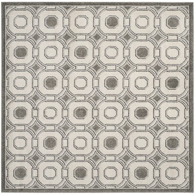 Maritza Ivory/Gray Indoor/Outdoor Wool Area Rug Rug Size: Square 7