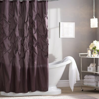 Benjamin Shower Curtain Color: Plum, Size: 72 H x 72 W