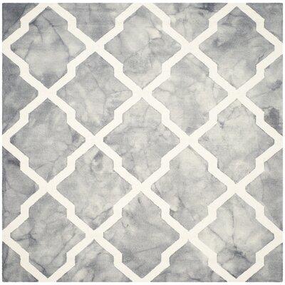 Ashanti Hand-Tufted Grey/Ivory Area Rug Rug Size: Square 7