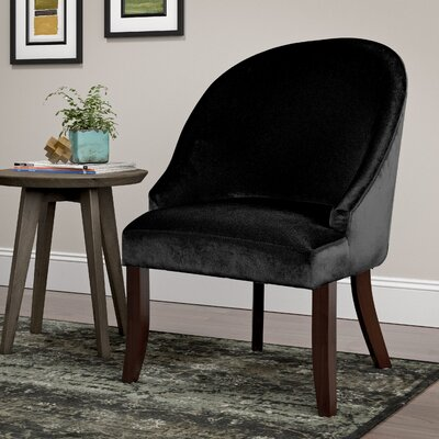 Pieter Barrel Chair Upholstery: Black