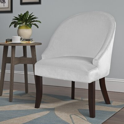 Pieter Barrel Chair Upholstery: White