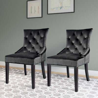 Lindsey Side Chair Upholstery: Dark Grey