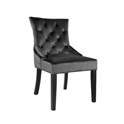 Lindsey Side Chair Upholstery: Dark Grey