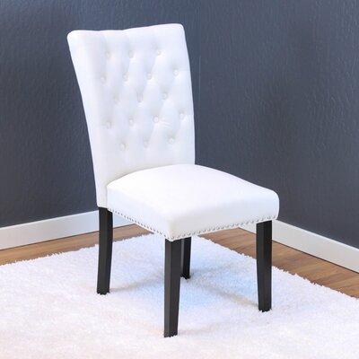 Erling Velvet Parsons Chair Upholstery: White Velvet