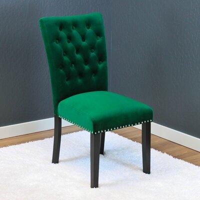Erling Velvet Parsons Chair Upholstery: Emerald Green Velvet