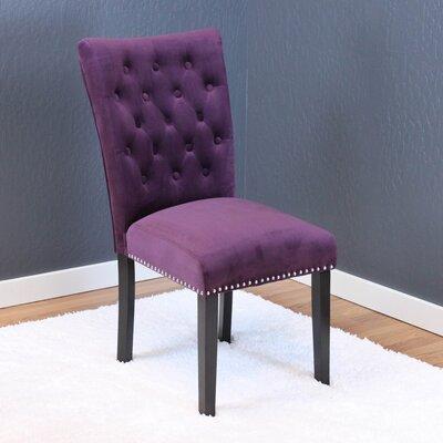 Erling Velvet Parsons Chair Upholstery: Plum Wine Velvet