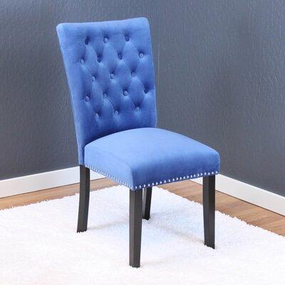 Erling Velvet Parsons Chair Upholstery: Sky Blue Velvet