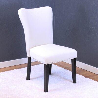 Kaat Velvet Dining Side Chair Upholstery: White Velvet