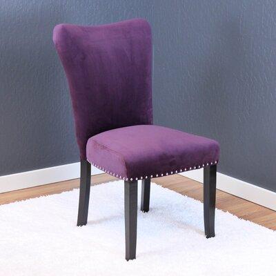 Kaat Velvet Dining Side Chair Upholstery: Plum Wine Velvet