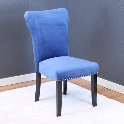 Kaat Velvet Dining Side Chair Upholstery: Sky Blue Velvet