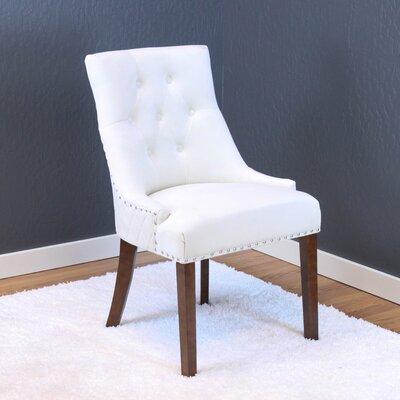 Chambers Velvet Parsons Chair Upholstery: White Velvet
