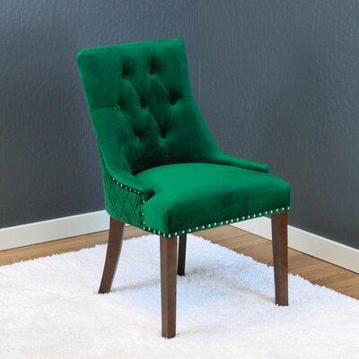 Chambers Velvet Parsons Chair Upholstery: Emerald Green Velvet