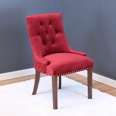 Chambers Velvet Parsons Chair Upholstery: Deep Red Velvet