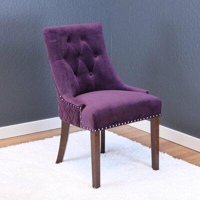 Chambers Velvet Parsons Chair Upholstery: Plum Wine Velvet