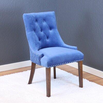 Chambers Velvet Parsons Chair Upholstery: Sky Blue Velvet