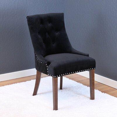 Chambers Velvet Parsons Chair Upholstery: Black Velvet