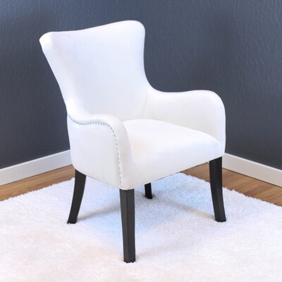 Kaat Velvet Wing back Chair Upholstery: White Velvet
