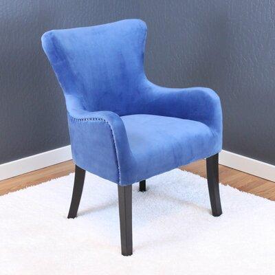 Kaat Velvet Wingback Chair Upholstery: Sky Blue Velvet