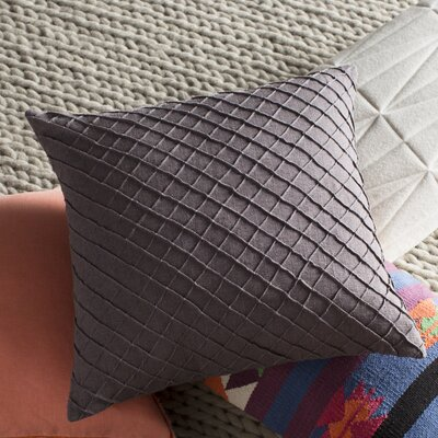 Thurston Linen Pillow Cover Size: 18 H x 18 W x 0.25 D, Color: Charcoal