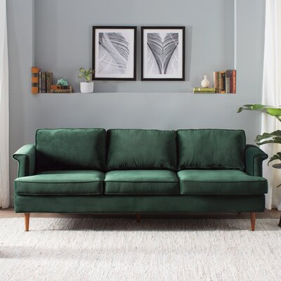 Hillam Sofa Upholstery: Forest Green