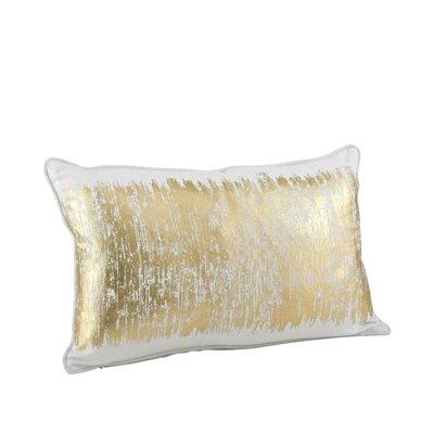 Garlan Metallic Banded Cotton Lumbar Pillow Color: Gold