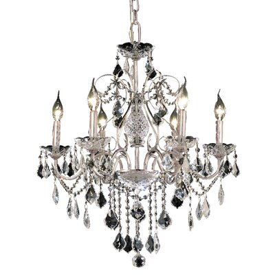 Diogo 6-Light Crystal Chandelier Finish: Chrome, Crystal Trim: Strass Swarovski