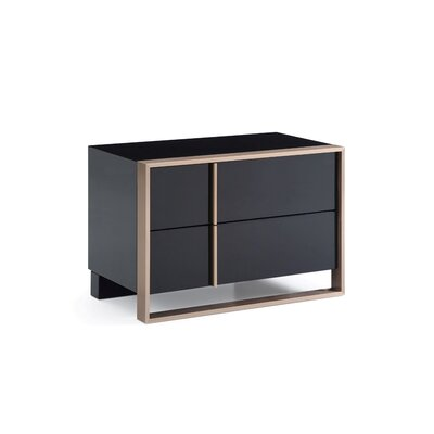 Ayaan 2 Drawer Nightstand Orientation: Right Facing