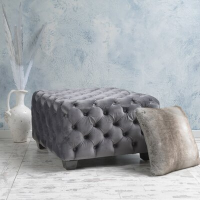 Crane Cocktail Ottoman Upholstery: Grey