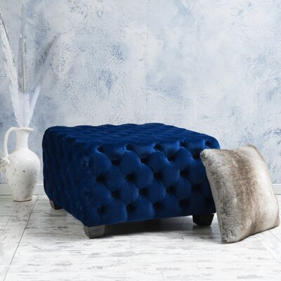 Crane Cocktail Ottoman Upholstery: Navy Blue