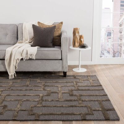 Blondell Blue / Brown Geometric Area Rug Rug Size: Rectangle 2 x 3