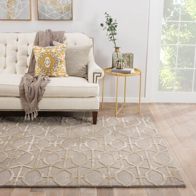 Avery Gray & Taupe Geometric Area Rug Rug Size: Rectangle 2 x 3