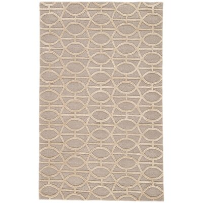 Avery Gray & Taupe Geometric Area Rug Rug Size: Rectangle 5 x 8