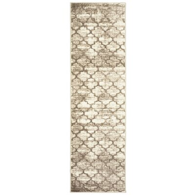 Droylsden Tan/Cream Area Rug Rug Size: Runner 2'1