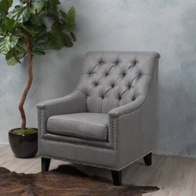 Highbury Fabric Armchair Upholstery: Gray